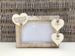Shabby personalised Chic Photo Frame In Memory Of Dad ~ Father ~ Daddy Any Name - 253965292024